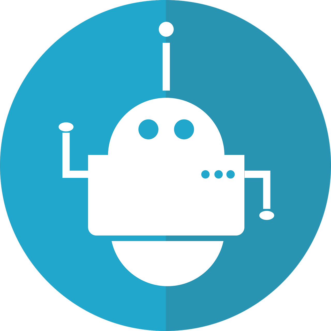 bot icon, robot, automated